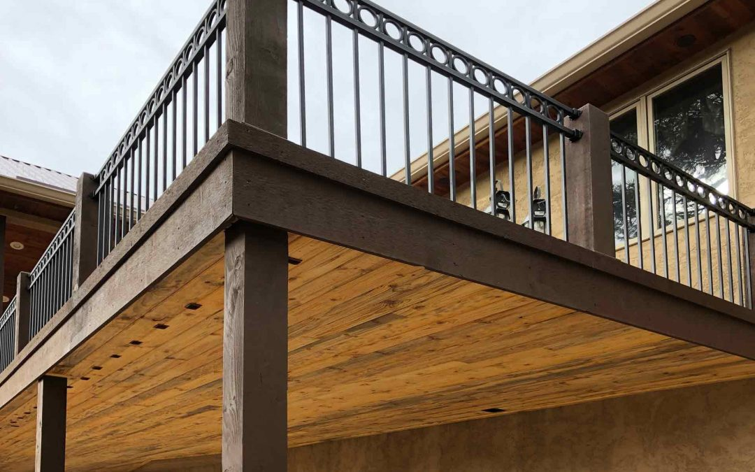 Composite deck project in Woodland Park