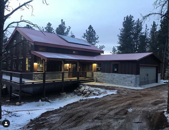 An off-grid custom home in Florissant, CO