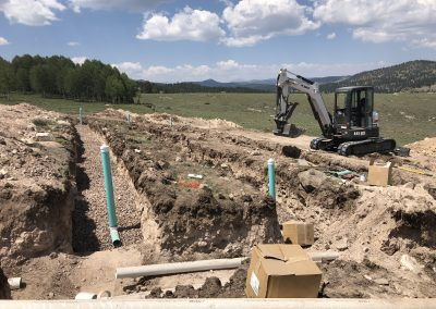 Septic system for a mixed use barn with residence above
