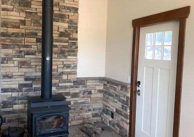 Living room stone work