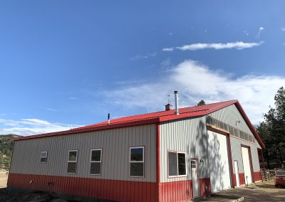 Ag building with custom home attached
